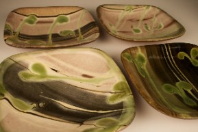 patia davis earthenware square dishes