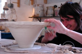 Josh Redman porcelain pottery courses