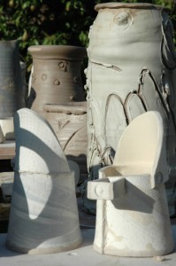 pottery courses pots drying