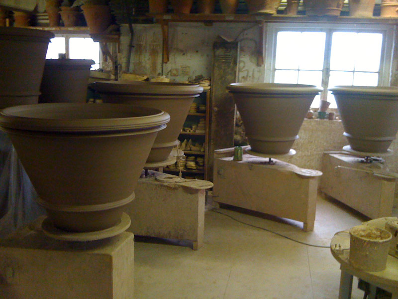 Large terracotta flowerpots - Adam Keeling