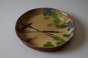 slipped round dish